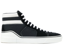 canvas-panelled sneakers