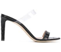 'Avorio' Sandalen mit Kroko-Effekt