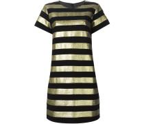 Kleid mit metallischen Streifen