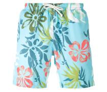 printed drawstring swim shorts - men