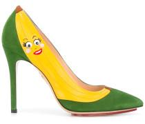 Wildlederpumps mit Bananendesign