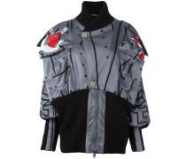 Oversized-Jacke mit geometrischem Print