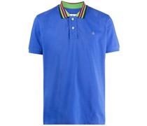 stripe-trim cotton polo shirt