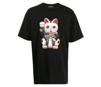 T-Shirt mit Glückskatzen-Print