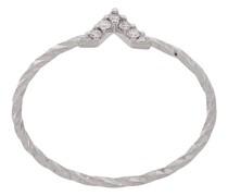 14kt 'Viva' Weißgoldring mit Diamanten