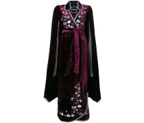 Paradise Apples embroidered velvet dress