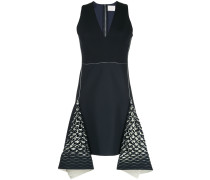 bias perforated mini dress