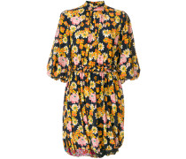 puff sleeve floral dress