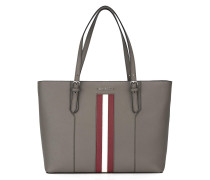 Handtasche mit Streifendetail