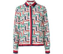 Pyjama-Bluse mit Ketten-Print