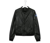 band collar bomber jacket