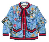 New flora silk jacket