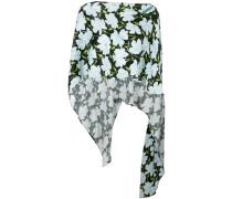 floral print cape blouse