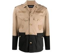 Zweifarbige Military-Jacke