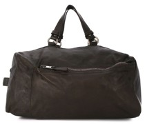 weathered effect holdall bag