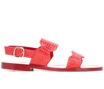Sandalen in Kroko-Optik
