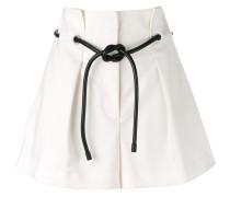 - origami pleated shorts - women