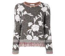 fringed floral jumper