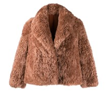 Oversized-Jacke mit Pelz