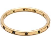 18kt Goldring mit schwarzen Diamanten