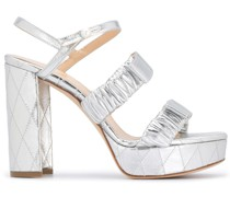 'Jean' Sandalen mit Metallic-Effekt