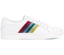 Sneakers mit bunten Streifen