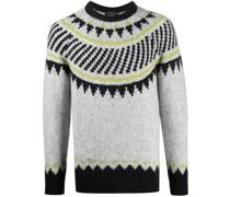 alpaca wool-blend knitted jumper