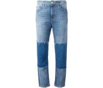 Jeans im Patchwork-Stil