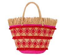 'Veva Pom Pom' Handtasche in Flecht-Optik
