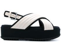 Fussbett quilted satin sandals