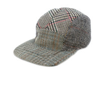 multi pattern tweed cap