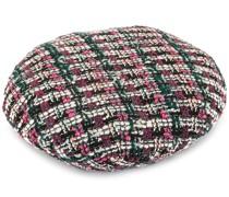 'Flore' Tweed-Baskenmütze
