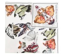 Seidenschal mit Schmetterlingen