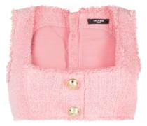 Tweed-Top mit Knöpfen