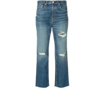 Cropped-Jeans im Distressed-Look