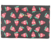Portemonnaie mit Erdbeer-Prints