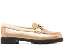 Mokassin-Loafer mit Gancini-Detail