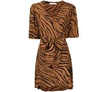 Wickelkleid mit Tiger-Print