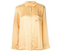 Pyjama-Seidenhemd mit Taschen