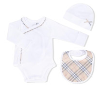 three-piece baby grow gift set