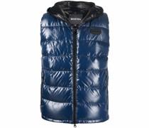 padded logo patch vest