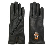 embroidered teddy gloves