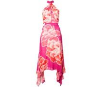 Neckholder-Kleid mit floralem Print
