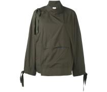 Oversized-Jacke mit seitlicher Schnürung