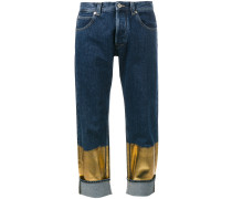 Boyfriend-Jeans mit Kontrasteinsatz