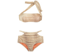 velvet hot pants bikini set