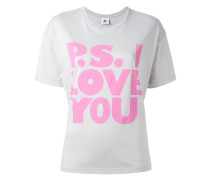 "T-Shirt mit ""P.S. I Love You""-Print"