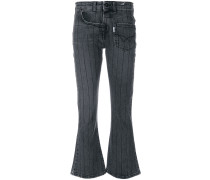twisted flared jeans