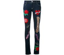 'Teddy Boss' Skinny-Jeans mit Patch