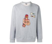 Sweatshirt mit Frauen-Patch - men - Baumwolle